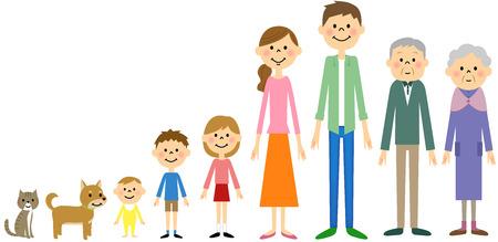 Family  イラスト・ベクター素材