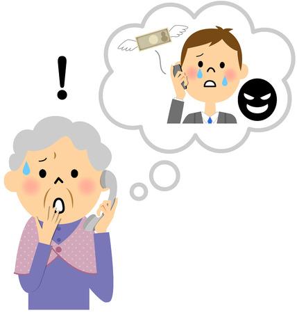 Großmutter zu täuschen Vektorgrafik