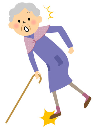 Granny struikelen