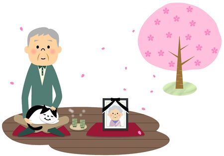 viewing: Senior citizen, Cherry-blossom viewing