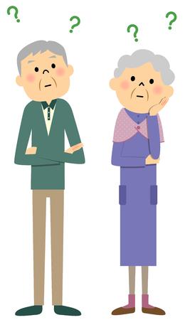 hair do: Elderly couple, Question Illustration