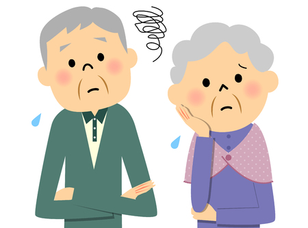 Elderly couple, Trouble