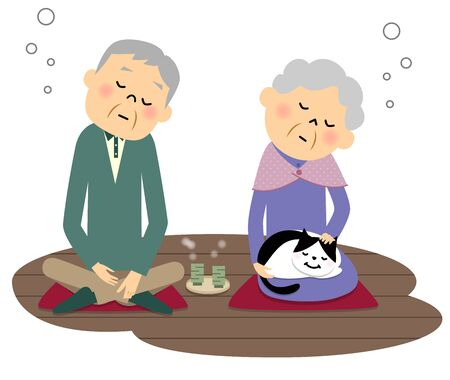 Elderly couple, Doze off