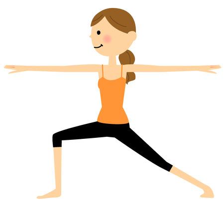 middle age women: Women who do yoga