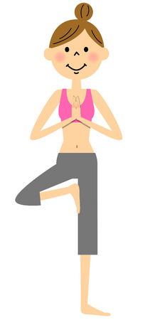 yoga asana tree pose: Women who do yoga