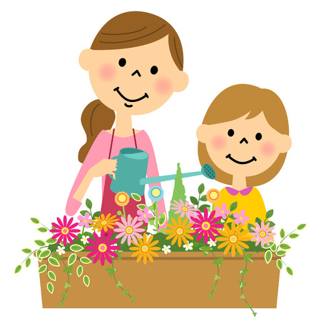 planter: Flowers in water do to parent-child