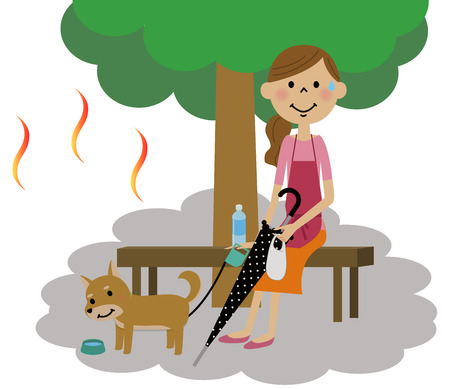 dizziness: The lady who takes a heat exhaustion measure Illustration