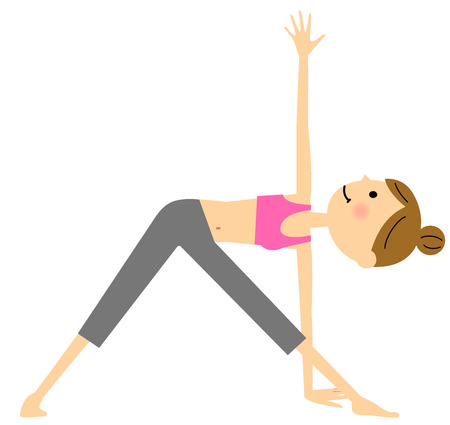 abdomen women: Women who do yoga