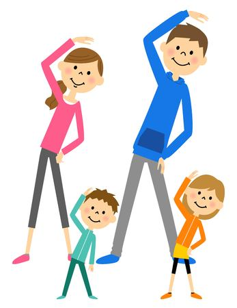 two generations: Family to prepare exercise Illustration