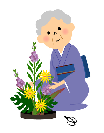 flower arrangement: Senior to the flower arrangement