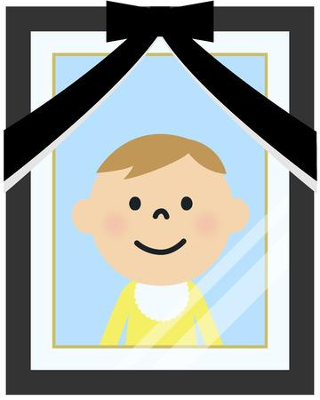 Portret van de overleden persoon foto Stockfoto - 64425635