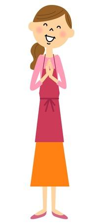 rejoice: Womens apron rejoice Illustration