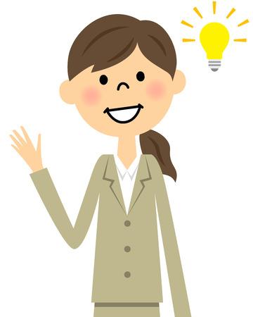 new employees: Flash suit women Illustration