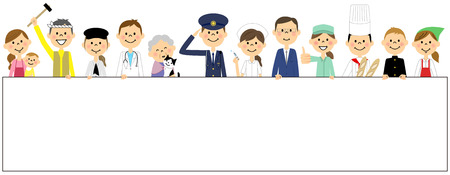 The people of the town Stock Illustratie