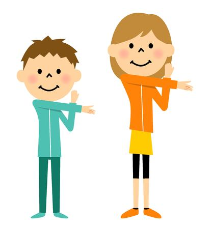 Warm-up exercises to children