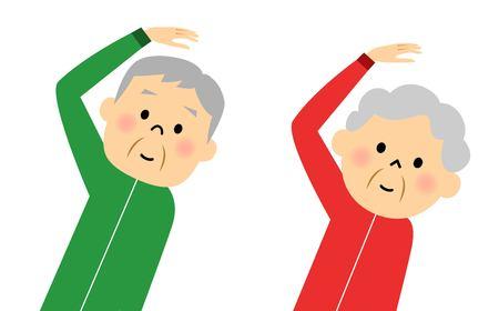 family man: Warm-up exercise to senior couples