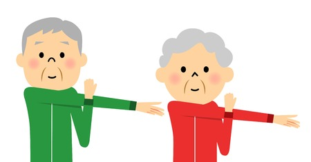 Warm-up exercise to senior couples