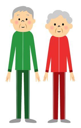 sportswear: Senior couple dressed in sportswear