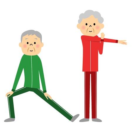 Warm-up exercise to senior couples