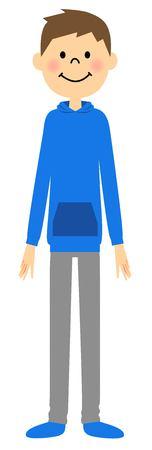 sportswear: Men dressed in sportswear Illustration
