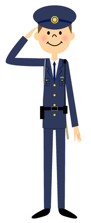 truncheon: Police officer