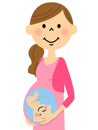 maternal: Pregnant pregnant Illustration