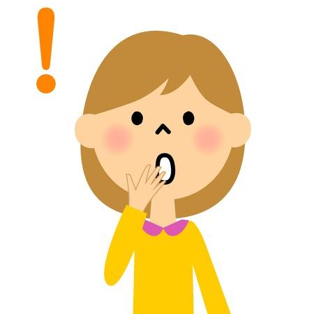 girl: Girl surprise Illustration
