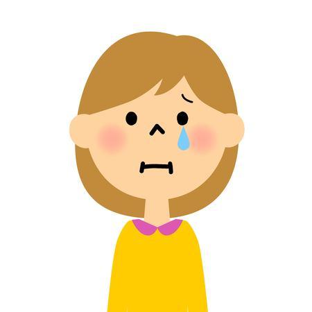 escuela infantil: grito de las niñas