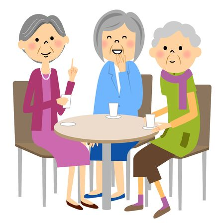 Seniors enjoy tea with friends