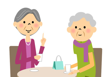 Seniors enjoy tea with friends