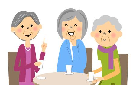 meet up: Seniors enjoy tea with friends