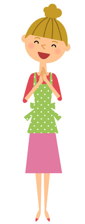 Happy apron Lady