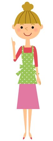 Lady finger apron Illustration