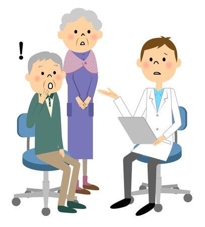 transitional: Elderly patients Illustration