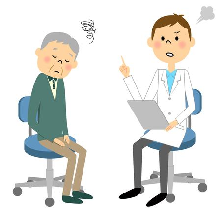 Elderly patients Illustration