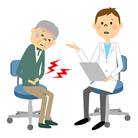 Ältere Patienten Vektorgrafik
