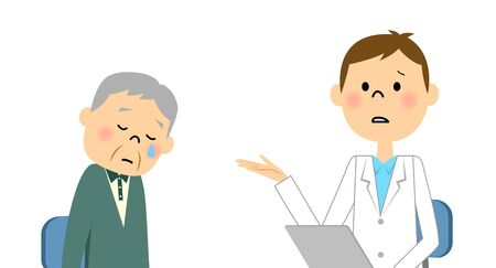 Elderly patients 向量圖像