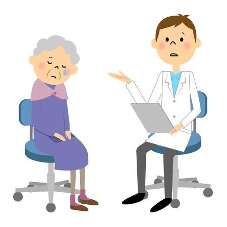 Elderly patients  イラスト・ベクター素材