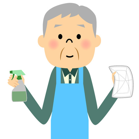 wiping: Grandpa senior Sweeper