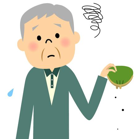 Senior Grandpa'm broke Иллюстрация