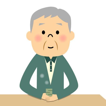 asian family: Senior Grandpa tee times