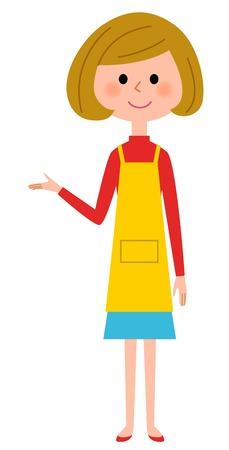 The female of the apron who explains Vektoros illusztráció