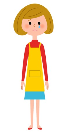 The female of the apron who cries
