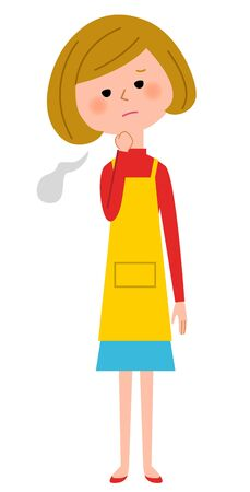 home care nurse: The female of the apron who sighs