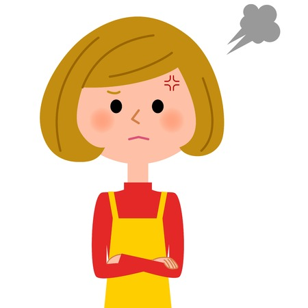 bellow: The female of the apron who gets angry