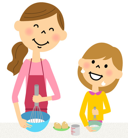 The parent and child who makes a dish together
