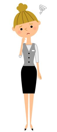 what if: Office worker, trouble Illustration
