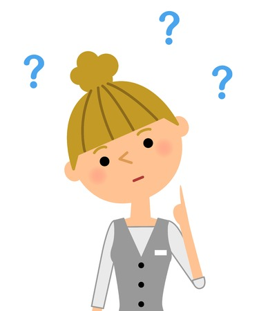Office worker, question Illustration