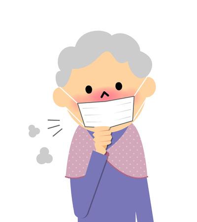 Senior citizen of physical condition badness