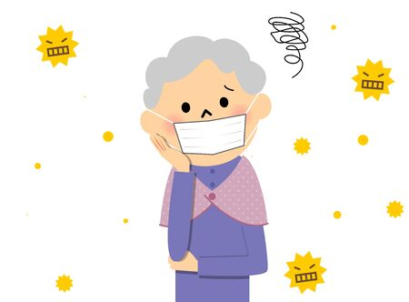 Senior citizen with hay fever